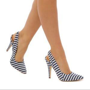 TOPANGA Striped Heels 👠