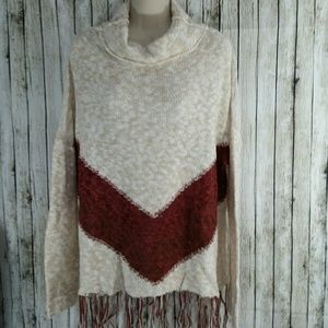 Mossimo Fringed Tunic Sweater - M/L
