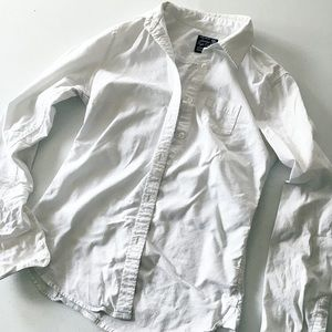 American Eagle White Classic Button Down