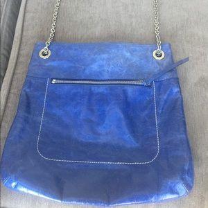 Coach Blue leather, chain cross body purse