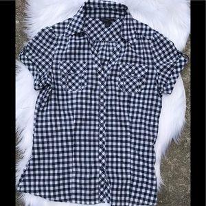 Banana Republic Button Down Checkered Shirt size S