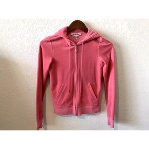 Juicy couture pink velour hoodie zip on