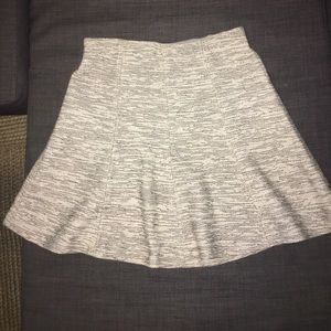 Loft White/Black Tweed Skater Skirt - Size S