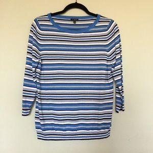 Talbots striped sweater.