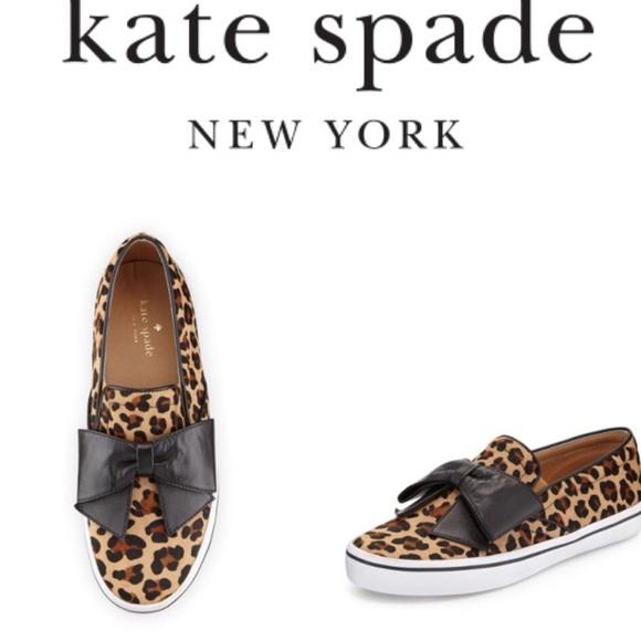 2827480cca6f Kate Spade Delise Leopard-Print Bow slip-on