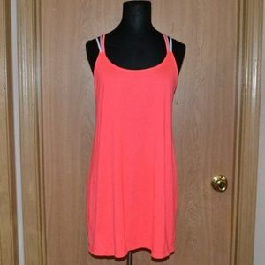 OP neon coral strappy tank top