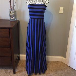 Mossimo striped maxi dress sz m