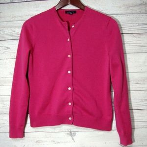 Lands End Pink Cardigan Sweater Size XS