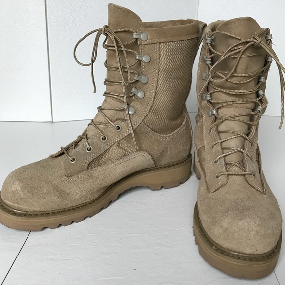 06525ef8689 SOLD**Bates 03-D-0321 Suede Military Boot Vibram