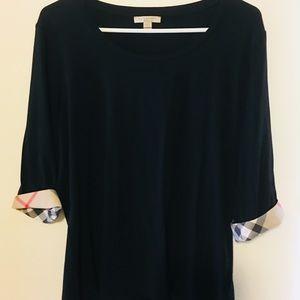 Burberry Brit women's 3/4 sleeve shirt black XL