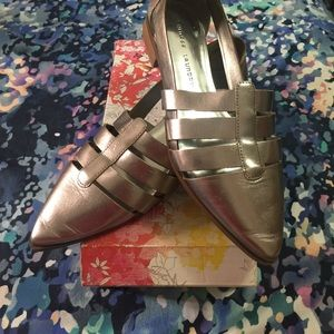 "Chinese Laundry ""outcast""  metallic shoes"