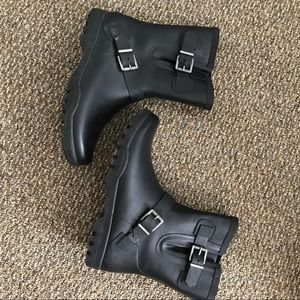 Sperry Short Rain Boots with Buckle