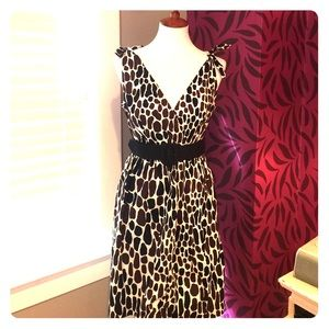 Trina Turk Los Angeles animal print dress w/ belt