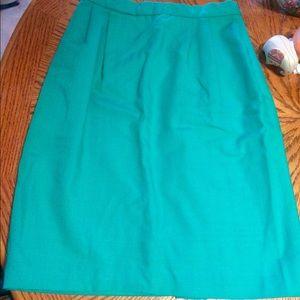 Vintage teal pencil skirt