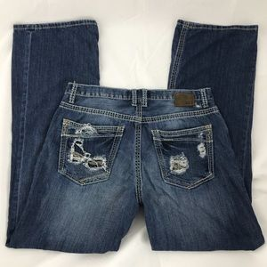 BKE 32 X 34 TYLER Straight Leg Distressed Jeans