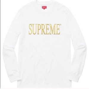 Supreme Gold Logo Long Sleeve