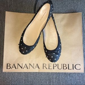 NEW! Banana Republic Black Ballet Flats