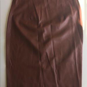 Vegan Leather Pencil Skirt by Zara