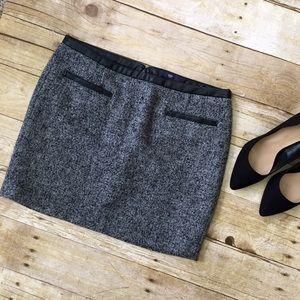 Gap Leather Trimmed Mini Skirt