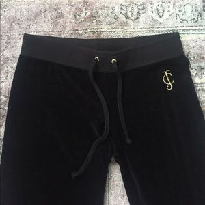Black Juicy Couture Velour Sweatpants