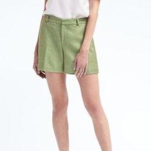 Banana Republic green tweed shorts