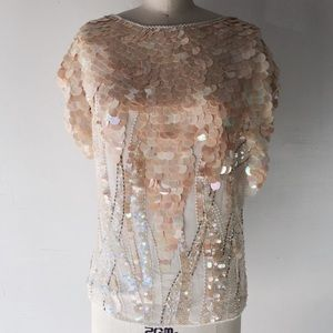 Vintage sequence roaring 20s top L