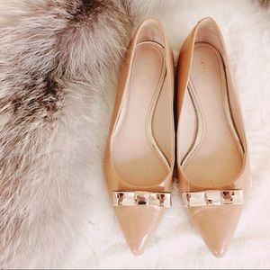 {coach} princess bow pointed flats