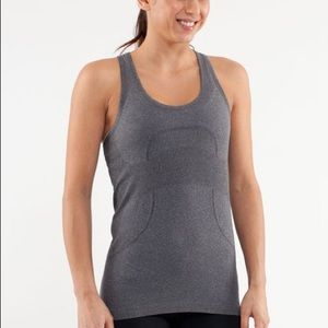 lululemon athletica Tops - Grey Run Swiftly Tank
