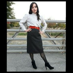 🍁Trend! Vintage 80's does 50's pencil skirt!