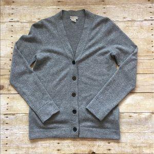 J. Crew 100% cashmere v-neck cardigan
