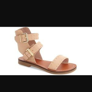 Top shop real leather studded sandals