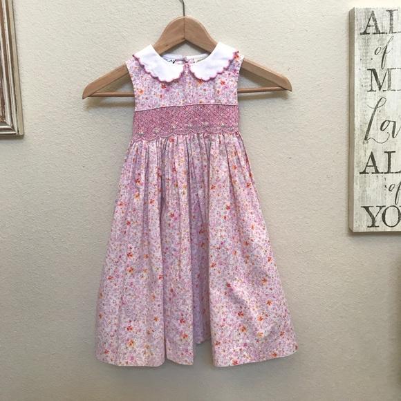 4d3cc4264dec Vintage Polly Flinders Pink Smocked Dress. M_59e4fdcef092825c510ccf19