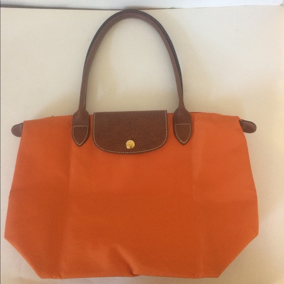 Longchamp Handbags - Orange Longchamp Le Pliage Tote Bag small 5de58de99dccb