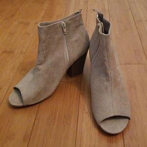 Old Navy peep toe booties