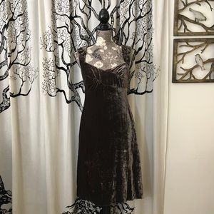 Anthropologie Odille Crushed Velvet Party Dress