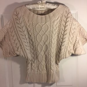 Oatmeal Colored, Express 3/4 Sleeve Sweater. Sz XS