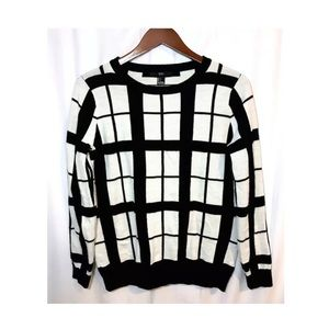 Forever 21 black and white squares sweater