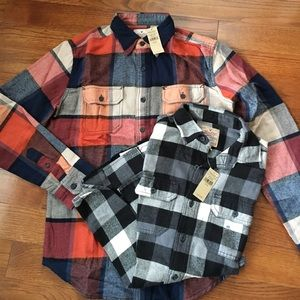 NWT - AEO XS 100% Cotton Flannel Shirts (2)