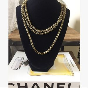 Nordstrom's Gold Tone Long Chain Necklace