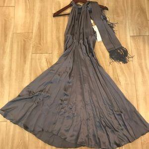 NWT Diane Von Furstenberg 100% silk dress grey 4