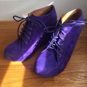 Jeffrey Campbell lace-up platform shoes
