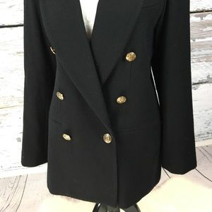 •Vintage• Staple Black Wool Double Breast Blazer 6
