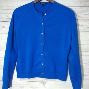 Lands End Cardigan Sweater Size XS 2 4 Blue Button