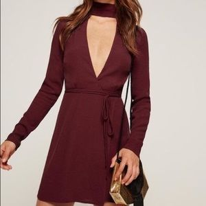 NWT Reformation Dress in M Red/Burgundy