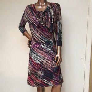 Nine West Geo Wrap Sheath Dress