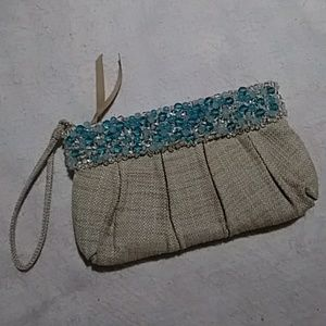 Banana Republic Turquoise Ombre Beaded Wristlet