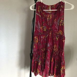 Free people tunic,like new xsmall