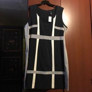 Ashley Stewart Navy Mod Dress