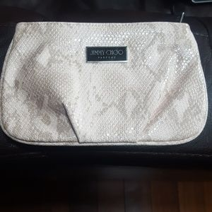 NWOT. Jimmy Choo Perfums Snakeskin Pouch