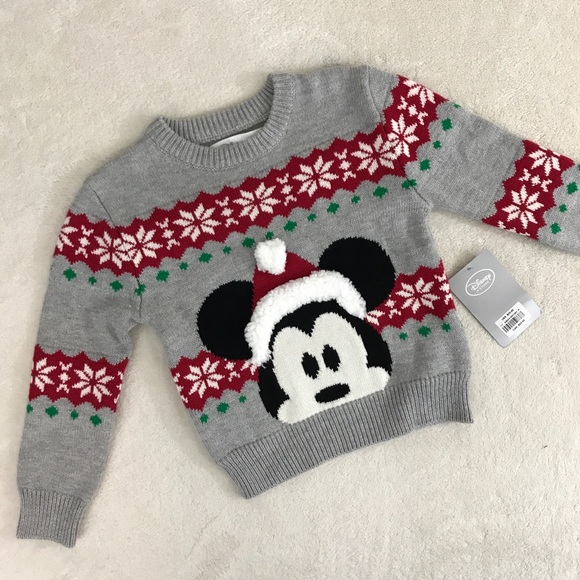 nwt kids disney mickey mouse christmas sweater - Mickey Mouse Christmas Sweater